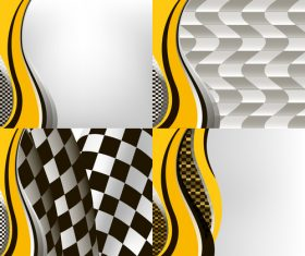 Checkered with abstract background vector 04