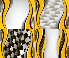 Checkered with abstract background vector 05