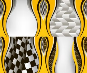 Checkered with abstract background vector 06