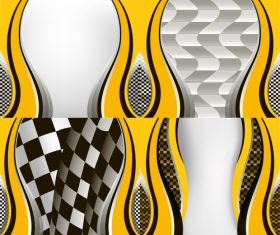 Checkered with abstract background vector 07