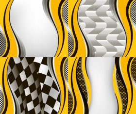 Checkered with abstract background vector 08