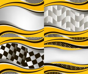 Checkered with abstract background vector 09