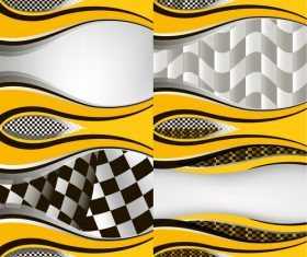 Checkered with abstract background vector 10