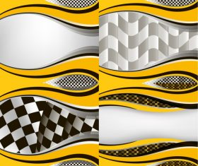 Checkered with abstract background vector 11