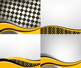 Checkered with abstract background vector 12