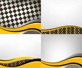 Checkered with abstract background vector 13