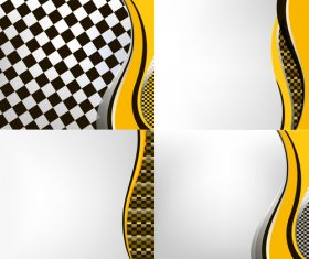 Checkered with abstract background vector 14
