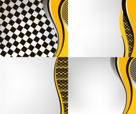 Checkered with abstract background vector 15
