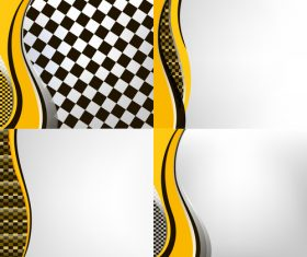 Checkered with abstract background vector 16