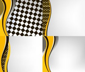 Checkered with abstract background vector 17