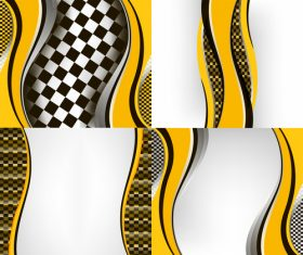 Checkered with abstract background vector 18