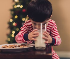 Child drink milk Stock Photo 03