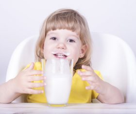 Child drink milk Stock Photo 09