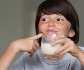 Child drink milk Stock Photo 10