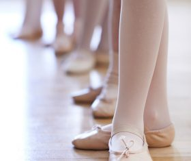 Children learning to dance ballet Stock Photo 02