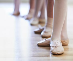 Children learning to dance ballet Stock Photo 05