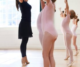 Children learning to dance ballet Stock Photo 06