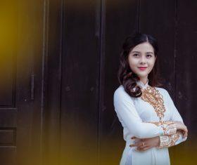 Classical temperament Vietnamese beauty Stock Photo