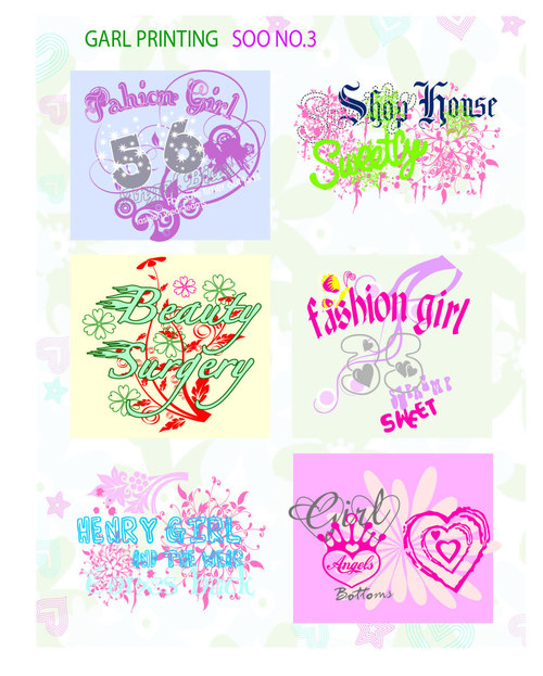Clothing printing design vector