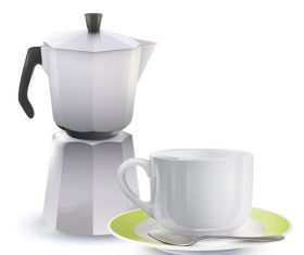 Coffee cup kit vectors material