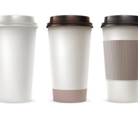Coffee paper cup package vector