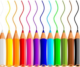 Colored pencils background vector material 02