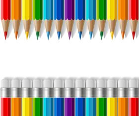Colored pencils background vector material 03