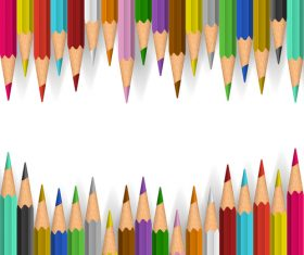 Colored pencils background vector material 04