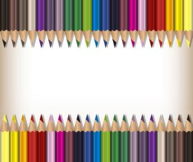 Colored pencils background vector material 06