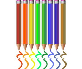 Colored pencils background vector material 08