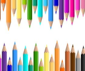 Colored pencils background vector material 09