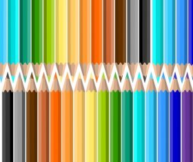 Colored pencils background vector material 10