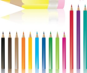 Colored pencils background vector material 11