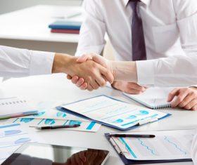 Cooperation successful handshake Stock Photo 01