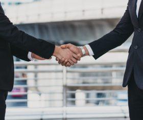 Cooperation successful handshake Stock Photo 04