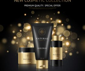 Cosmetic brand poster design vector