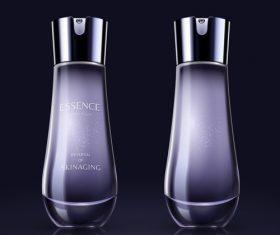 Cosmetics bottle purple vector