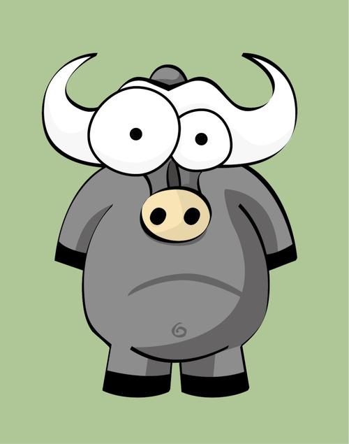 Cow devil illustration vector