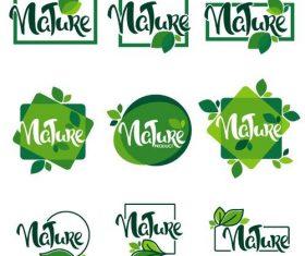 Creative nature labels vectors design
