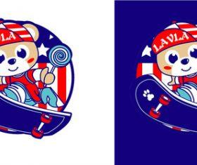 Cute cartoon bear vector cartoon character