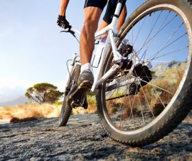 Cycling close-up Stock Photo