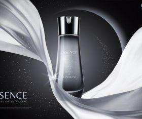 Dark cosmetics advertisements poster template vector