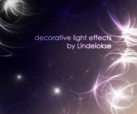 Decorative light effects Photoshop