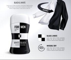 Deodorant bottles poster vector