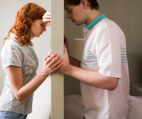 Dispirited couple Stock Photo