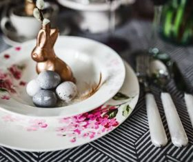 Easter table decoration Stock Photo 02