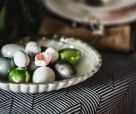 Easter table decoration Stock Photo 06