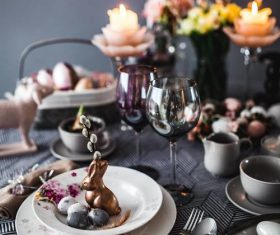Easter table decoration Stock Photo 08