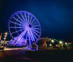 Fairground by night Stock Photo