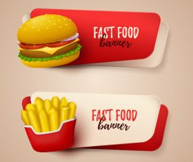 Fastfood banner vector material 01
